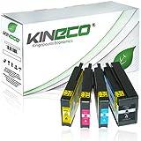 4 Tintenpatronen kompatibel zu HP 950XL/951XL für HP Officejet Pro 8610 e-All-in-One Officejet Pro 8620 e-All-in-One Officejet Pro 8100 ePrinter Officejet Pro 276dw 251dw - CN045AE CN046AE CN047AE CN048AE - Schwarz 83ml Color je 30ml