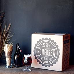 1 Gallon Small Batch Beer Home Brewing Starter Kit with Caribou Slobber Brown Ale Beer Recipe Kit