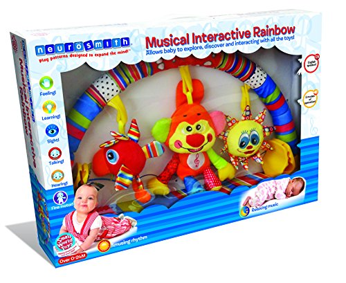 Small World Toys Neurosmith - Musical Interactive Rainbow Crib Toy