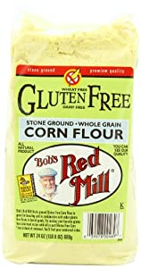 Bob's Red Mill Gluten Free Corn Flour, 24 Ounce Packages (Pack of 4)