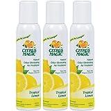 Citrus Magic 3-Pack Natural Odor Eliminating Air Freshener Spray, Tropical Lemon, 3.5-Ounce