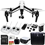 DJI Inspire 1 with Dual Remotes Starter Kit. Includes SanDisk Extreme Plus 32GB UHS-I/ U3 Micro SDHC Memory Card (SDSDQX-032G-U46A) + High Speed Memory Card Reader + Microfiber Cleaning Cloth + SSE FURY SPEAKER