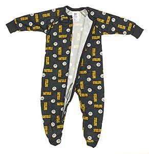 Pittsburgh Steelers NFL born and Toddler Fleece Sleeper, Black at SteelerMania