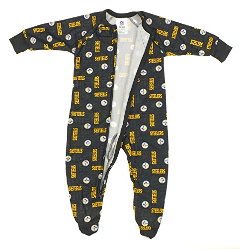 Pittsburgh Steelers NFL born and Toddler Fleece Sleeper, Black at SteelerMania