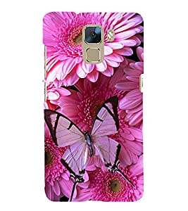 Vizagbeats butterflies on pink flowers Back Case Cover for Huawei Honor 7