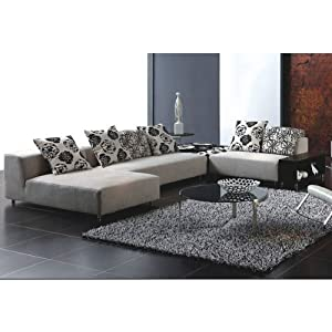 Amazon Cream Fabric Sectional Sofa