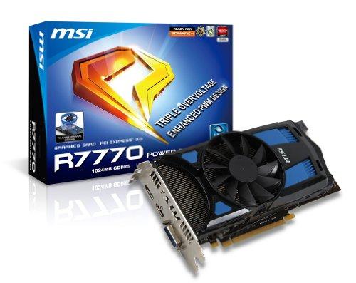 MSI R7770 PE 1GD5/OC Radeon HD7770 1GB GDDR5 DisplayPort DL DVI-I HDMI PCI Express 3.0 Graphics Card