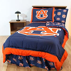 NCAA Bed in a Bag with Team Colored Sheets Size: Queen, NCAA Team: Auburn by College Covers