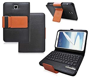 Photonic Bluetooth Keyboard Tablet Stand Leather Case for Samsung Galaxy Note 8.0 N5110 (Black/Brown)