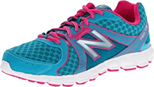 New Balance KJ750 Y Running Shoe (Little Kid/Big Kid),Blue/Pink,7 W US Big Kid