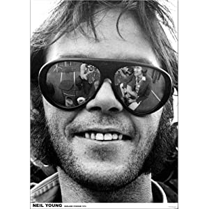 Neil Young (Sunglasses, Oakland Stadium 1974) Poster Print - 24x33