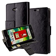 buy L70 Case,Lg Optimus L70 Cover Aomax® Wallet Card Slot View Stand Premium Protective Leather Cover Case+ Hd Screen Protector For Lg Optimus L70 (Metropcs/Cricket) / Optimus Exceed 2 W7 (Verizon) / Ls620 Realm (Boost Mobile) / L41C Ultimate 2 (Straight Talk