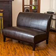 Christopher Knight Home 214586 Darcy Brown Leather Loveseat
