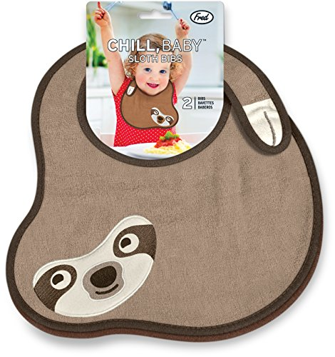 Fred and Friends CHILL, BABY Sloth Bibs, 2 Count