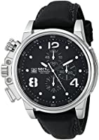 Sector Men's Quartz Watch with Silver Dial Analogue Display and Black PU Strap R3251172040