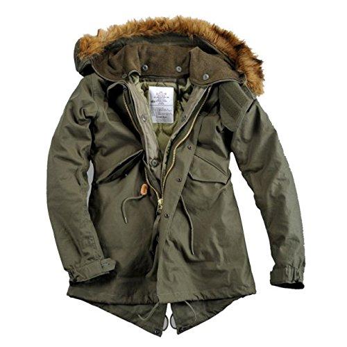 Alpha Ind. Frauen-Jacke Vintage Fishtail Wmn – olive jetzt kaufen