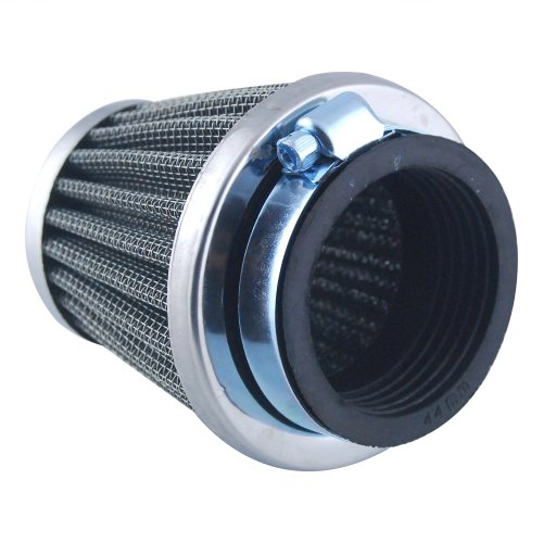 Universal Fit Custom Motorcycle Cruiser Pod Power Performance Air Filter Intake Induction Kit With 44mm Inlet Rubber Connector