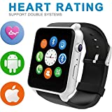 Evershop Newest SIM Card NFC Bluetooth Connectivity Sports Smart Watch With Heart Rate Monitor And Wristwatch...