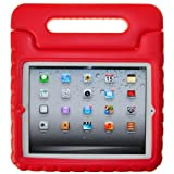 SuchAcase Child Safe Kids Friendly Protective Cover Case For IPad Mini (Red)