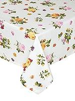 COINCASA Mantel de Mesa Blanco/Multicolor 140 x 280 cm