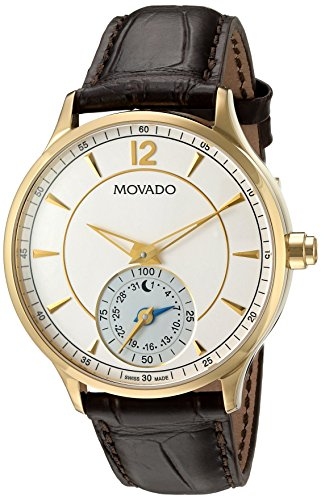 Movado-Mens-Swiss-Quartz-Gold-Tone-and-Leather-Watch-ColorBrown-Model-0660008
