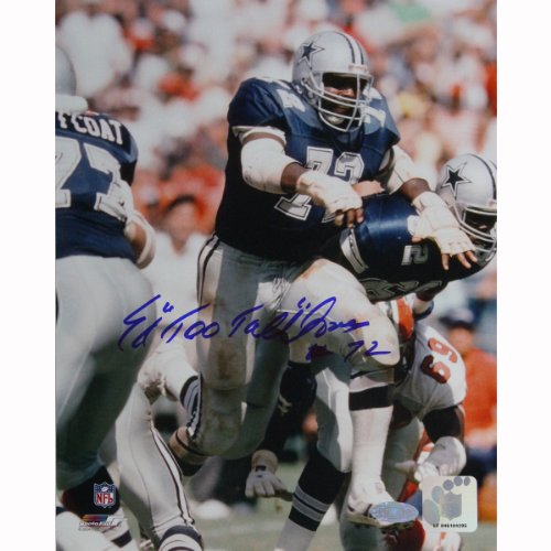 NFL Dallas Cowboys Ed Jones Blue Jersey Action Photograph, 8x10-Inch at Amazon.com