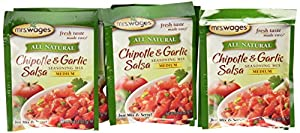 Mrs. Wages Chipotle & Garlic Salsa Mix, 0.8-Ounce Pouches (Pack of 12)