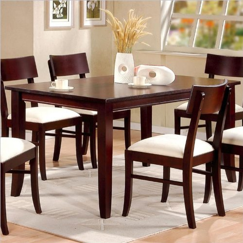 Coaster Springs Rectangular Leg Dining Table in Cappuccino Finish