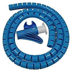 MX CABLE ORGANIZER CABLE MANAGEMENT WIREMESH EASY CABLE COVER 28MM - 1.5 METERS - MX 2696B - BLUE