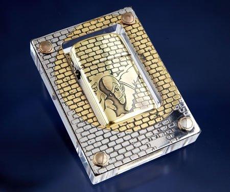 日テレ限定 ルパン三世 RONSON タイフーンライター 復刻版スタンドセット