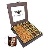 Chocholik Premium Gifts - Unique Combination Of Chocolates & Almonds With Diwali Special Coffee Mug - Diwali Gifts