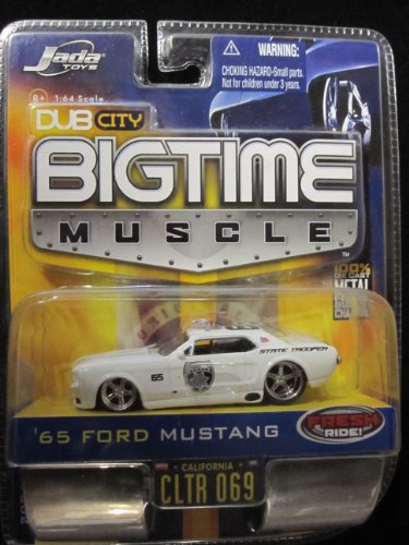 65 Ford Mustang Police Car (White) Dub City Bigtime Muscle By Jada - 1
