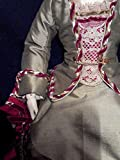 Antique reproduction 2 piece dress fashion doll dress; bleuette doll dress; doll clothe; silk doll dress; collectible doll dress; 13