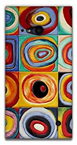 The Racoon Lean printed designer hard back mobile phone case cover for Nokia Lumia 730. (Circles -)