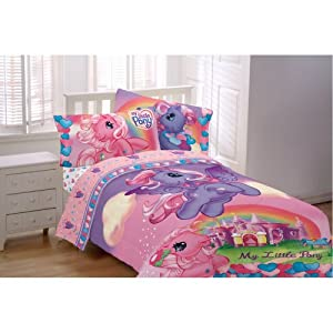 my little pony pony party twin comforter. Black Bedroom Furniture Sets. Home Design Ideas