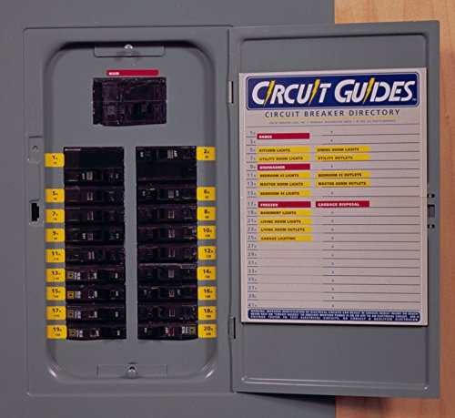 """""""Circuit Guides"""" Kit. You Get 149 Identifier Labels - Plus a Circuit-Breaker Directory for Inside the Panel Cover"""