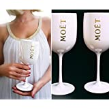 1x Moët Glasses Moet Flutes Glass Cup Champager Ice Imperial White Nikki Beach Veuve Clicquot