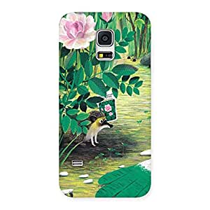 Cute Garden Drawing Back Case Cover for Galaxy S5 Mini