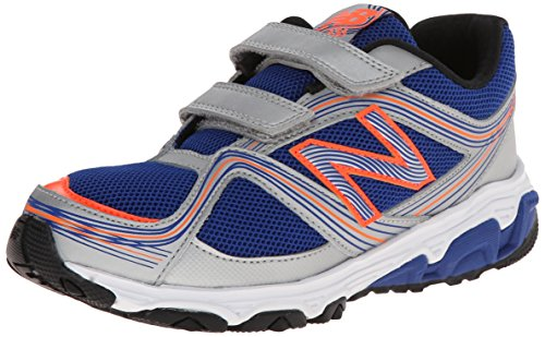 New Balance Kg636 Pre Hook And Loop Running Shoe (Little Kid),Silver/Blue,13.5 M Us Little Kid