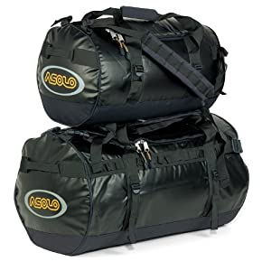 Asolo Monsoon Coated Duffle Bag (Black, Medium)