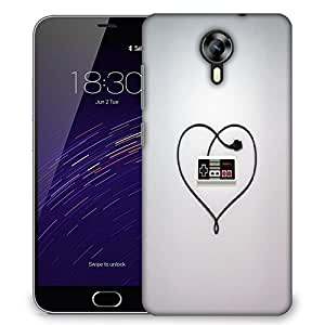 Snoogg Entertainment System Controller Love Designer Protective Back Case Cover For Meizu M2