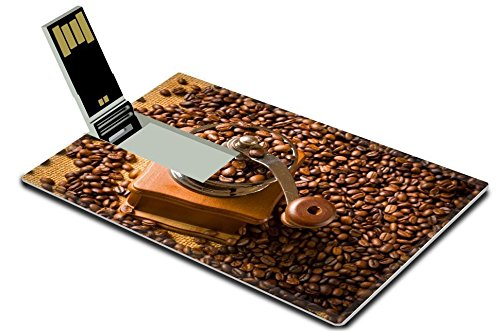 MSD 16GB USB Flash Drive 2.0 Memory Stick Credit Card Size vintage manual coffee grinder with coffee beans IMAGE 25375375 (Usb Coffee Grinder compare prices)
