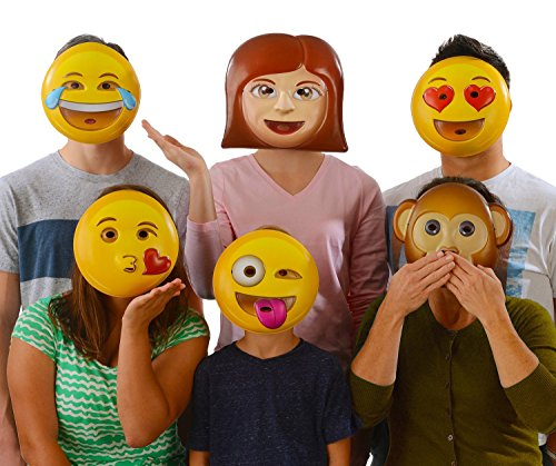 Emoji Vacuform Party Masks