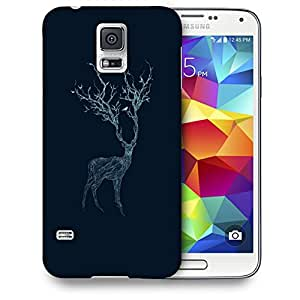 Snoogg Neon Deer Designer Protective Back Case Cover For SAMSUNG GALAXY S5