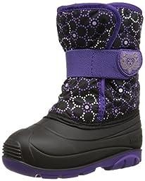 Kamik Snowbug4 Snow Boot (Toddler), Black/Purple, 8 M US Toddler