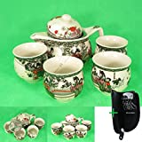 Teetassen Teeservice Tafelservice Blumenmuster #1676 5 tlg Cafe Kaffeservice