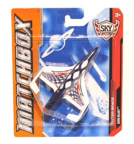 "MATCHBOX Sky Busters 'OUTER SPACE SERIES"" Aero Blast"" Die Cast Experimental Orbiter Jet (RED, WHITE & BLUE EDITION) - 1"