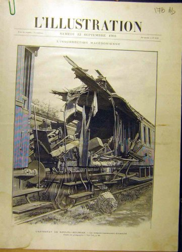 1903 Train Dynamite Kouleli Bourgas Maritza French