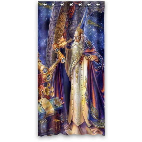 "Custom It Magician Mantle Telescope Mechanisms Observatory Star Design Stall Mildew Resistant Waterproof Bathroom Fabric Shower Curtain 36"" X 72"""