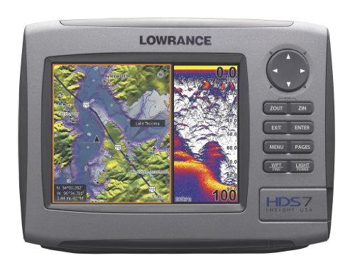 Lowrance HDS-7 7-Inch Waterproof Marine GPS and Chartplotter with 83200kHz transducer